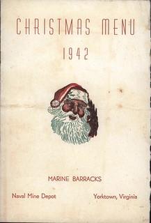 Marine Barracks, Naval Mine Depot Menu, 25 December 1942