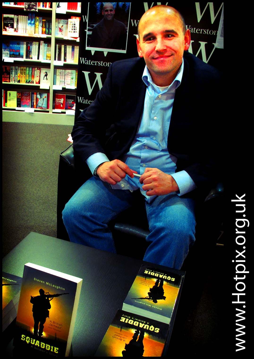 tony,smith,hotpix,tonysmith,tonysmithhotpix,soldier,army,book,signing,Warrington,cheshire,uk,portrait,waterstones,december,2011,dec,dec2011