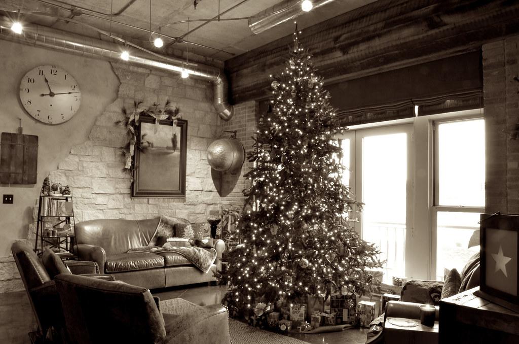 The Christmas Loft.Christmas Loft 2011 The Christmas Tree In Sepia Brent