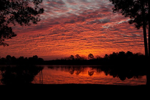 christmas sky lake color clouds sunrise reflections