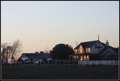 ranch winter sunset usa reflection architecture barn rural fence glow texas country goldenhour lonestarflag harriscounty tomballtx texasscenes