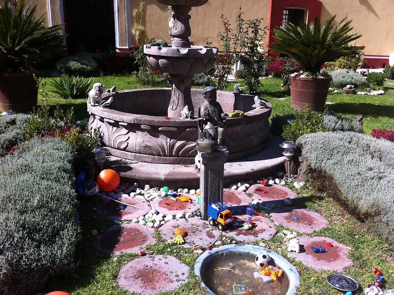 Jardín en el Templo del Niño Doctor