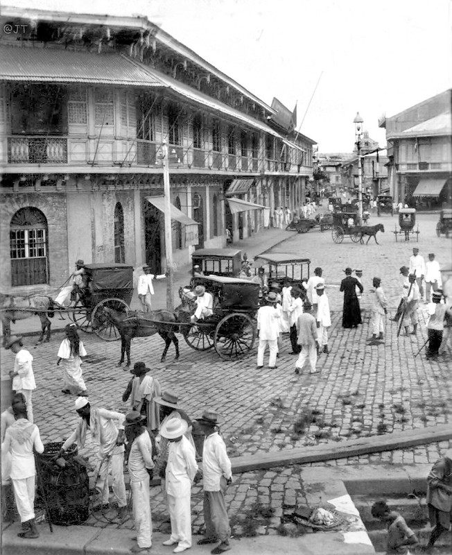 Rosario Street and Binondo Church from the Pasig River, Manila, Philippine Islands, Early 20th Century