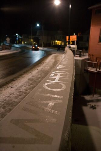 art ice water typography vermont artist johnson installation writer lettering residency resident vermonststudiocenter vsccollaboration alenagraedon