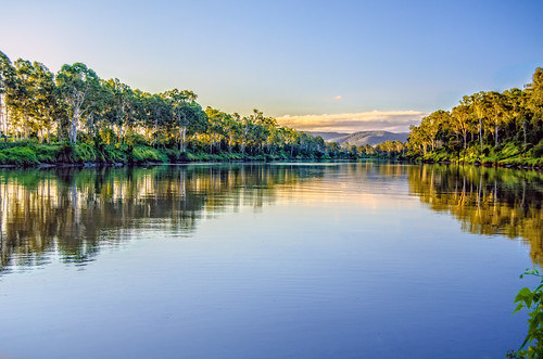trees sunset reflection water clouds river day clear brisbaneriver hdr waterreflections moggill cloudsstormssunsetssunrises