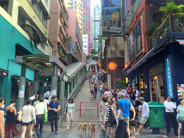 Relaxing Sunday afternoon in Hong Kong