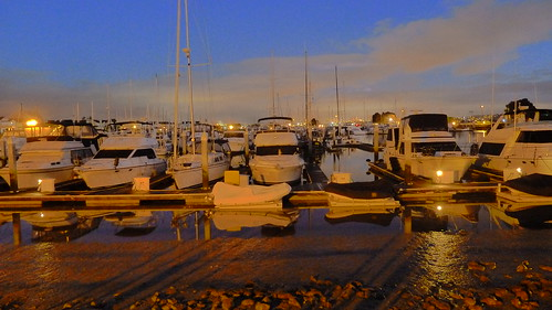 HD photo of boats in Harbor at Night - art mode | by @bastique