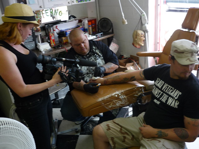 Geoff getting tattoo
