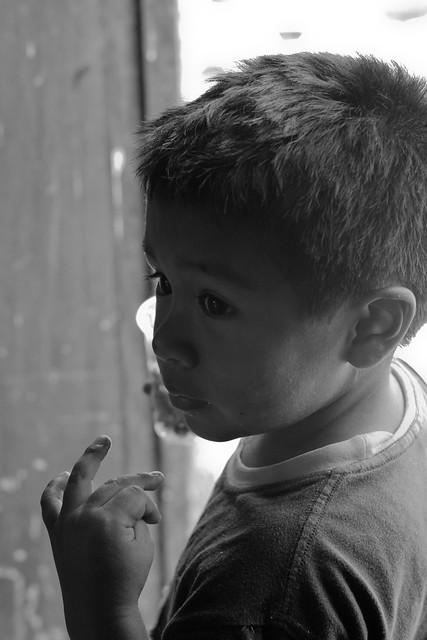 Peruvian Portraits Three (Boy in Doorway)