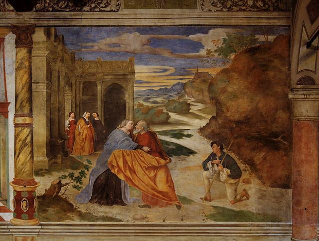 Padova, Veneto, basilica del Carmine, murals, # 3