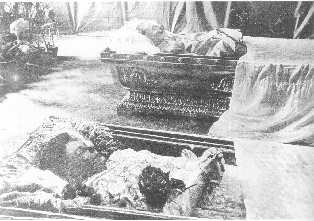 The embalmed bodies of Archduke Franz Ferdinand and Duches