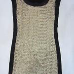 1224019(-针织拼网纱订亮片裙 2 4 6 浅黄-深黄色-咖啡色-灰色-玫红色   胸90 长82 (1)