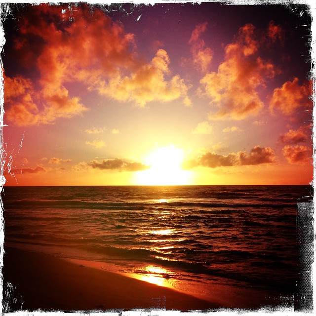 Sandy Beach hipstamatic sunrise