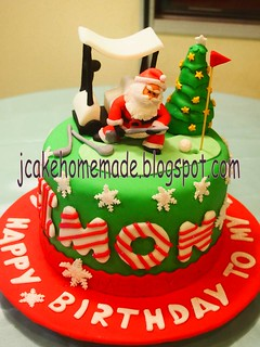 Christmas and Golf birthday cake | by Jcakehomemade