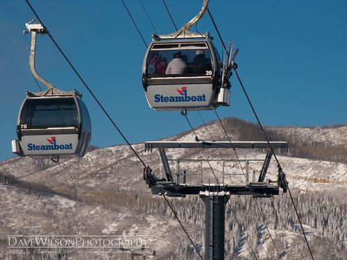 winter vacation holiday snow colorado skiing lift cablecar gondola steamboat