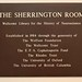 Plaque for the Sherrington Seminar Room, Sherrington Building, University of Oxford