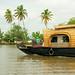 Kerala – kettuvallam, jakýsi místní houseboat, foto: Daniel Linnert