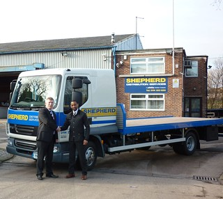 February 2012 - Shepherds take delivery of new DAF LF45 | by Shepherd Distribution Services