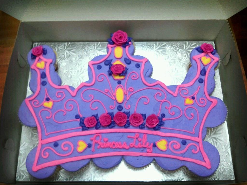 Peachy Princess Crown Cupcake Cake Artisan Kitchen Flickr Funny Birthday Cards Online Inifodamsfinfo
