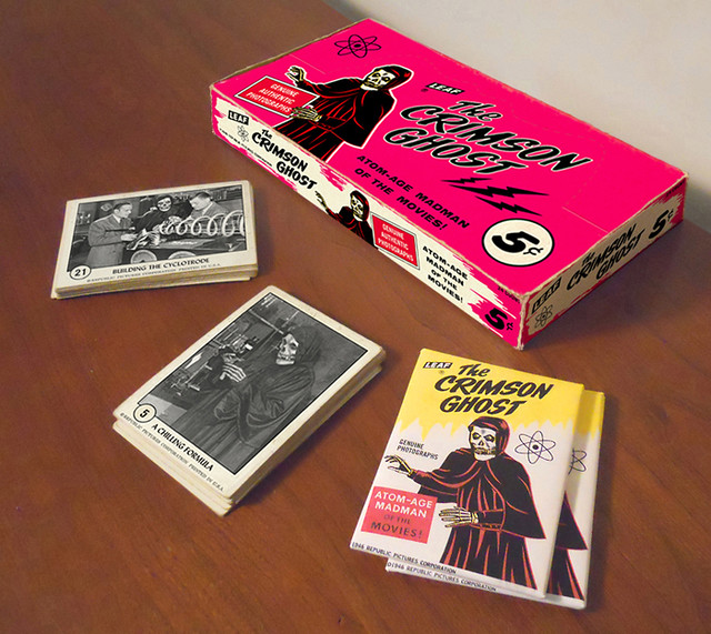 Crimson Ghost Bubblegum Cards And Card Box