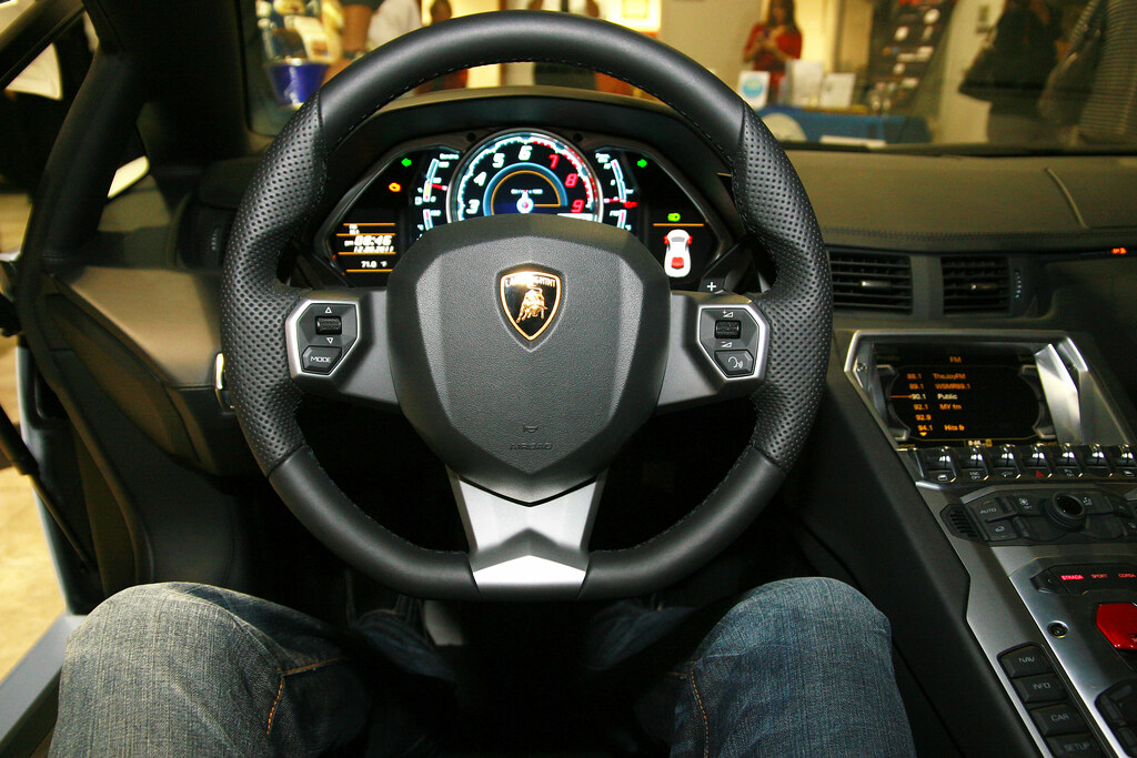 Lamborghini Aventador Interior Inside View Of The New 2012 Flickr