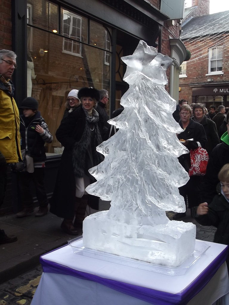Ice Sculpture Christmas.Christmas Tree Ice Sculpture Yorkshire Days Flickr
