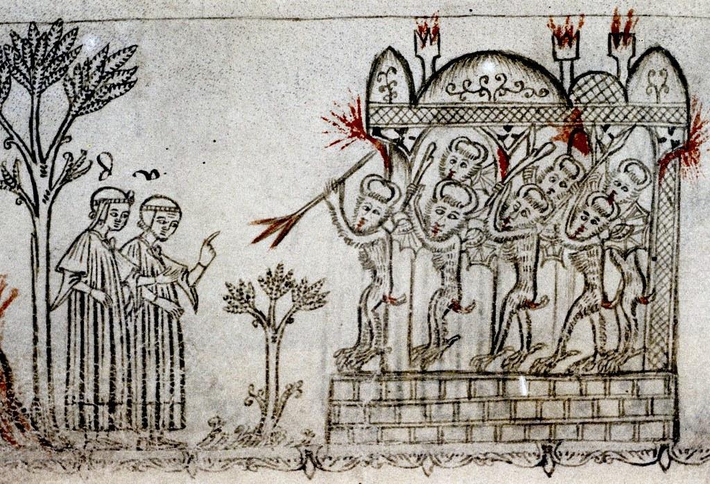 Seven devils guard City of Dis. Dante. Italian 14th cent ...