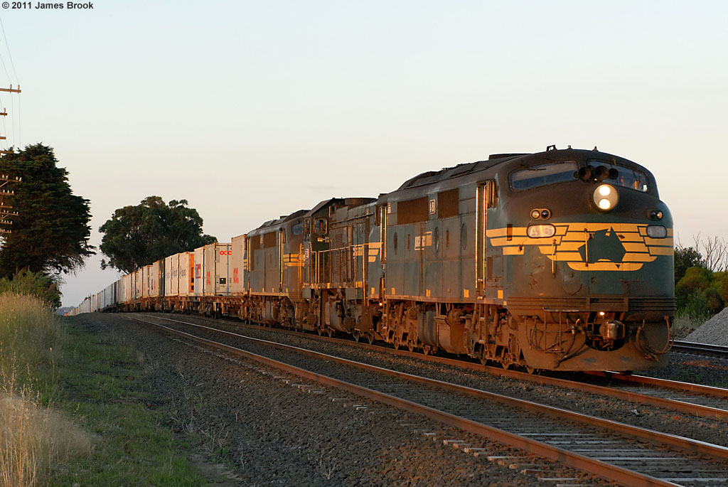 A81, P22 and A78 with 9306 at Beveridge by James Brook