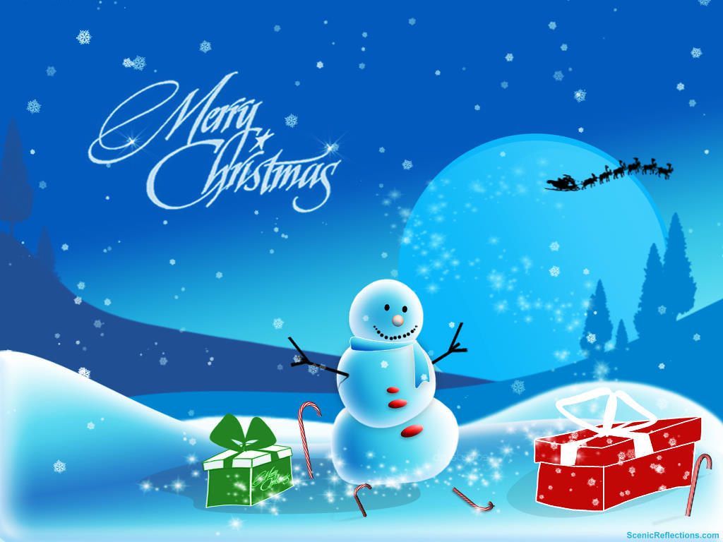 Christmas Snowman Wallpaper Free Christmas Screensavers Flickr