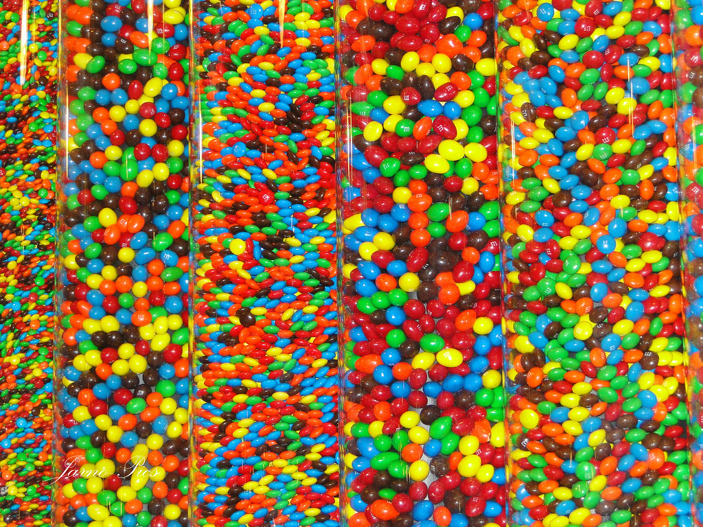 The Big Apple - M&M's A wall of candy, the M&M store Times Square.