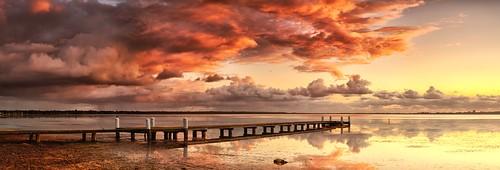 "seascape nature water clouds reflections landscape pier nikon jetty australia panoramic nsw littlefluffyclouds theorb d3x zf2 berkeleyvale makroplanart250 ""zeisscontest2011"""
