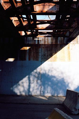 bridge shadow film vertical ma graffiti iron cement tracks lynn brickyard diagnal