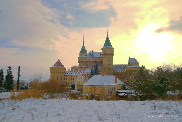 Bojnice Castle Slovakia, Winter Story