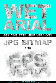 Wet Arial font poster by PistoCasero