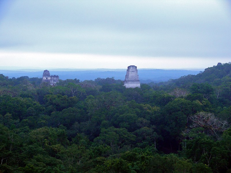 tikal from flores guatemala