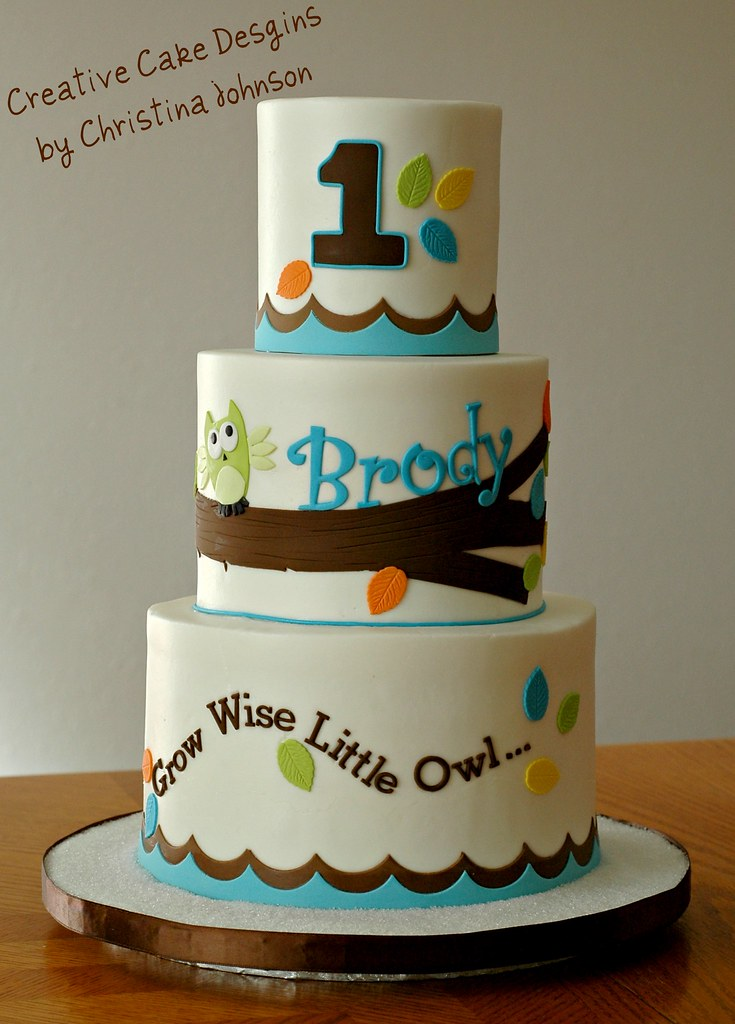 Phenomenal Owl 1St Birthday Cake Buttercream Cake Fondant Details De Flickr Birthday Cards Printable Riciscafe Filternl