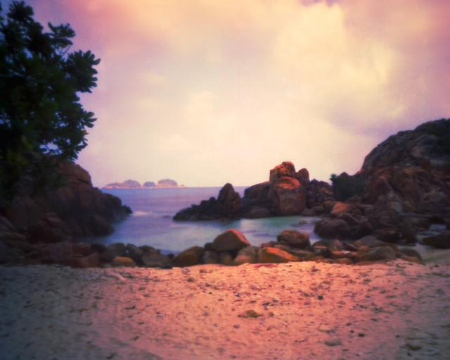 Pulau Redang, pinhole with expired film