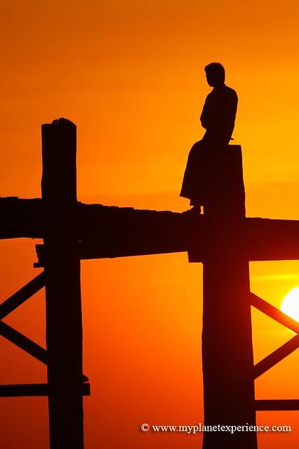 Sittin' on the U Bein bridge - Myanmar