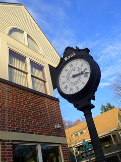 Huron Village - Cambridge Trust Co. clock, Cambridge, MA | by CharlesCherney.com