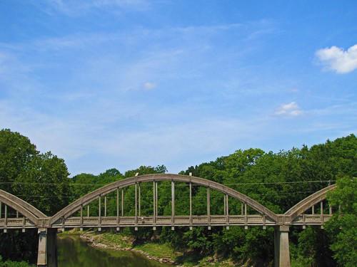 sky rural concrete bridges kansas independence