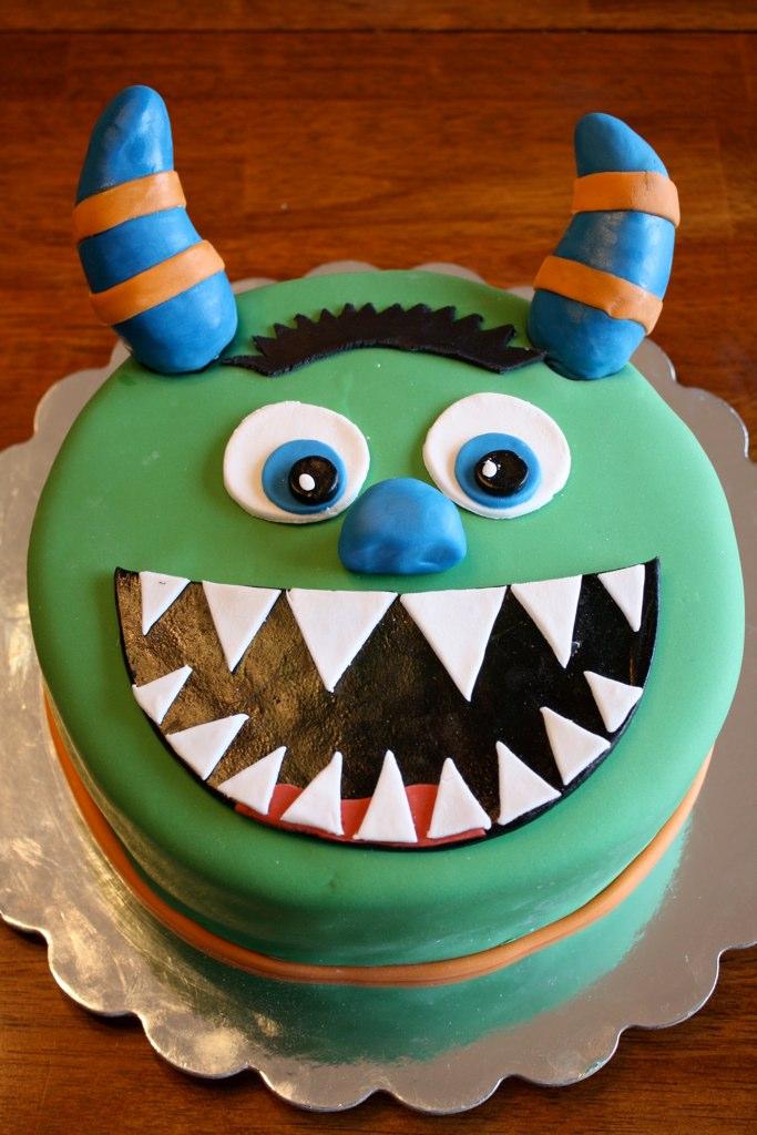 Sensational Monster Birthday Cake Monster Birthday Cake For A 6Th Birt Flickr Personalised Birthday Cards Arneslily Jamesorg