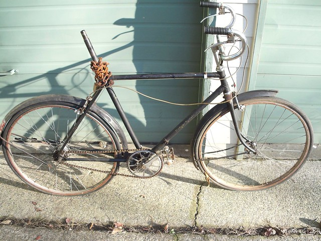 1953 Rudge Sports, drive side.