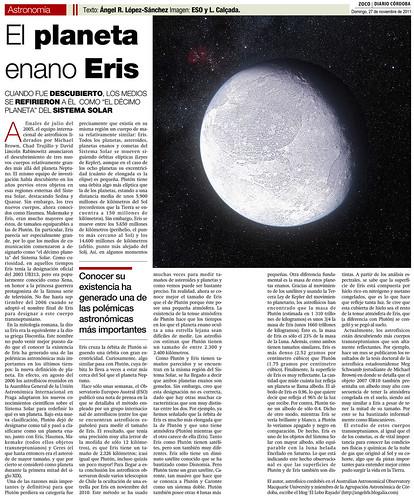 Zoco Astronomía: El Planeta enano Eris | by Ángel López-Sánchez