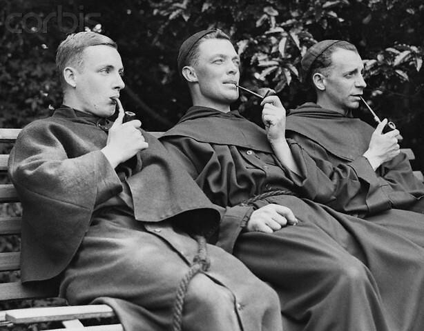 smoking monks
