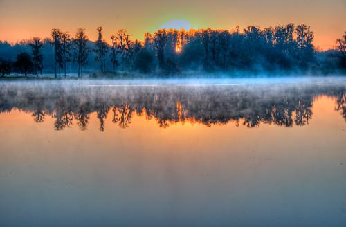 morning lake sunrise tampabay florida