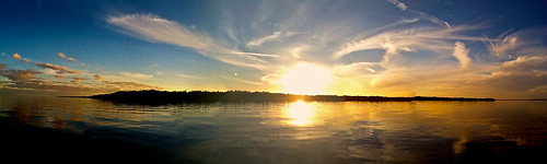 ocean sunset island florida panoramic
