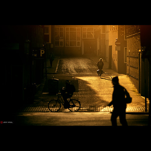 road street city morning light people bicycle sunrise canon buildings eos dawn golden warm bricks streetphotography special pedestrians reflective awake groningen cinematic f28 70200mm goldenlight 70200l img5557 ef70200mmf28lusm 60d canon60d jeffkrol