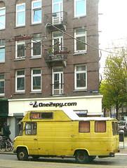 Mercedes 508 kampeerwagen (camper, camping-car), 1976, Amsterdam, Admiraal de Ruijterweg, 09-2011
