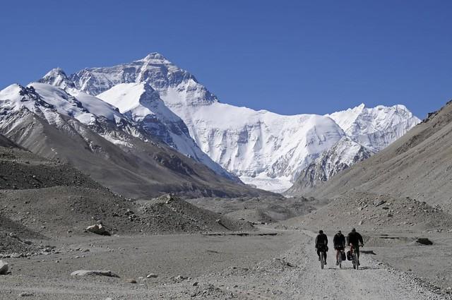 Tom, Damian & David descending from Everest Camp Base
