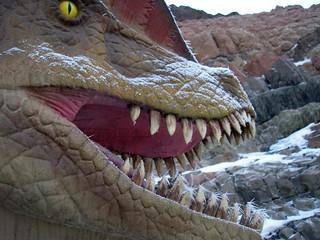 Dilophosaurus with stars on his teeth